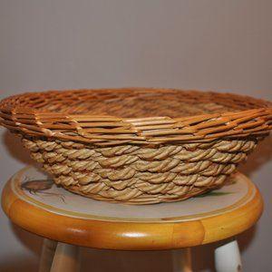 Sturdy Boho Wicker Basket